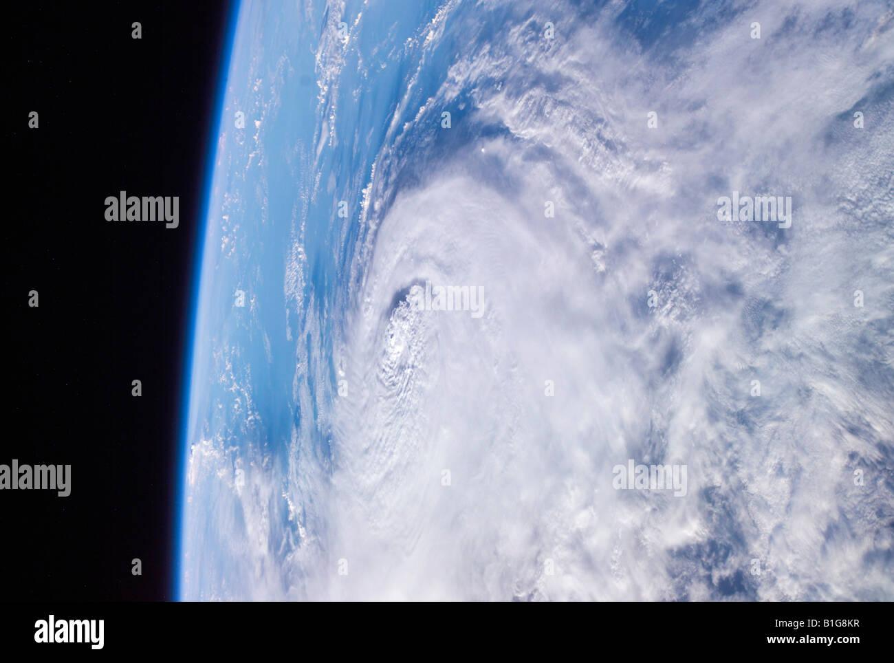 Hurrikan Charley aus dem Weltraum Stockbild