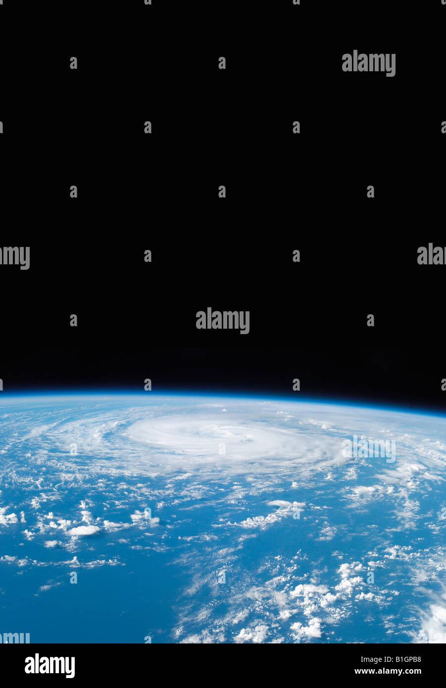 Hurrikan-Epsilon aus dem Weltraum Stockbild