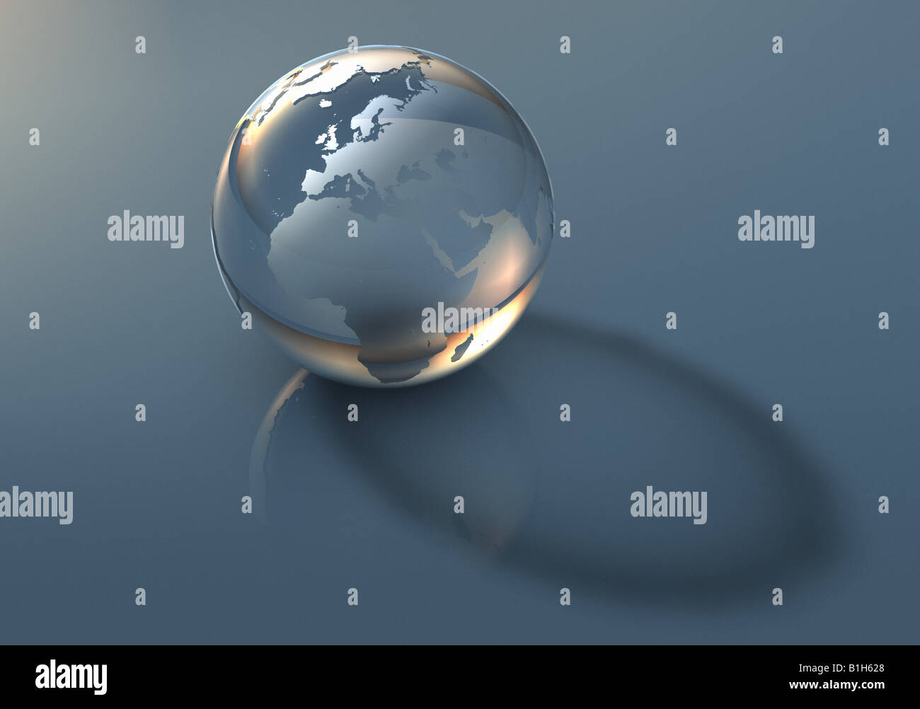 Transluzente Globus Stockbild