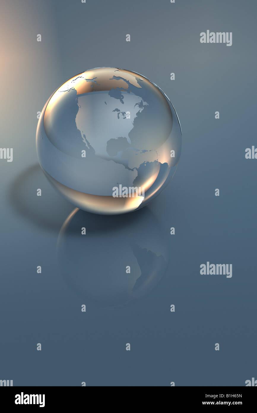 Computer generierte Globus Stockbild
