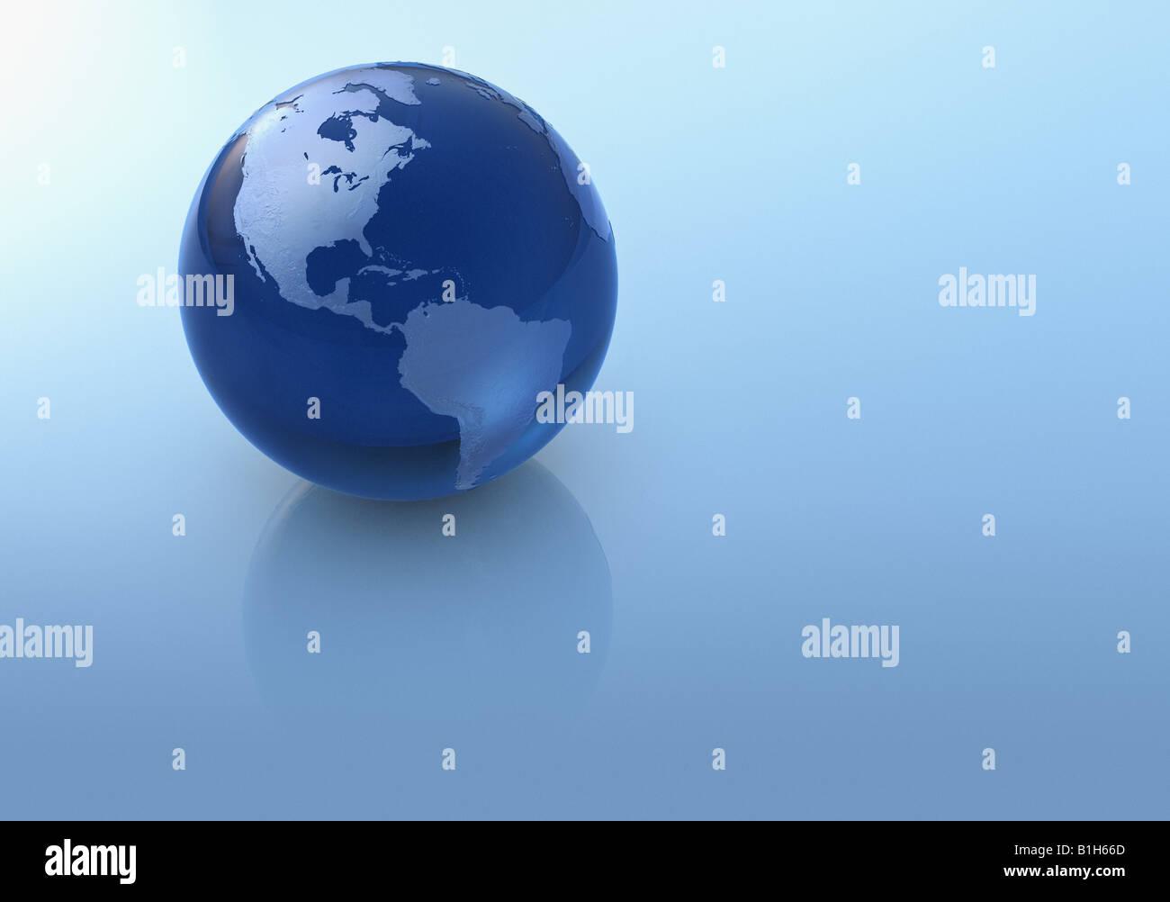Blauer Globus Stockbild