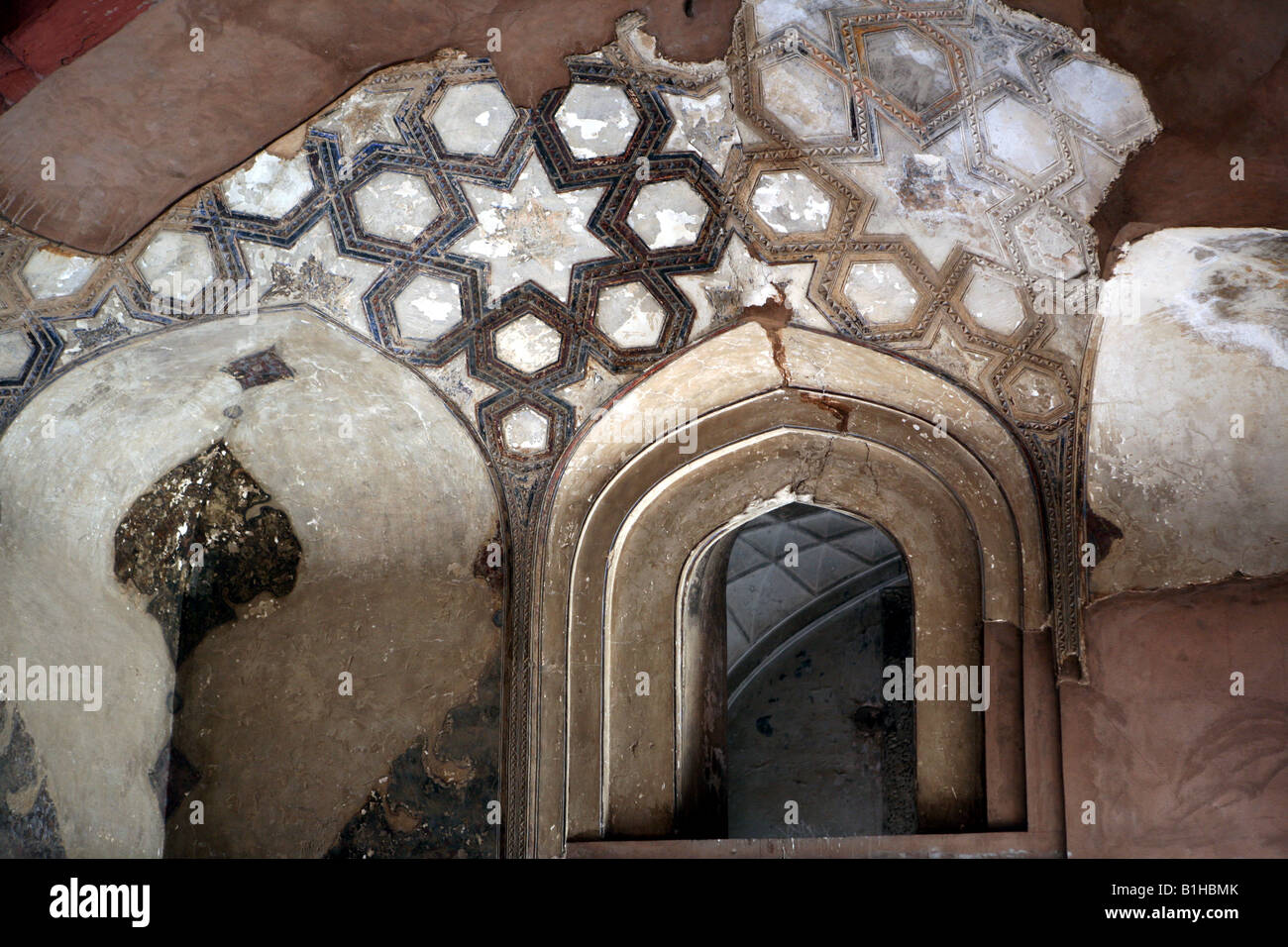 Wand  Und Deckengestaltung Im Palast Innerhalb Des Red Fort Agra Indien AKA  Lal Qila Fort Rouge Und Agra Fort