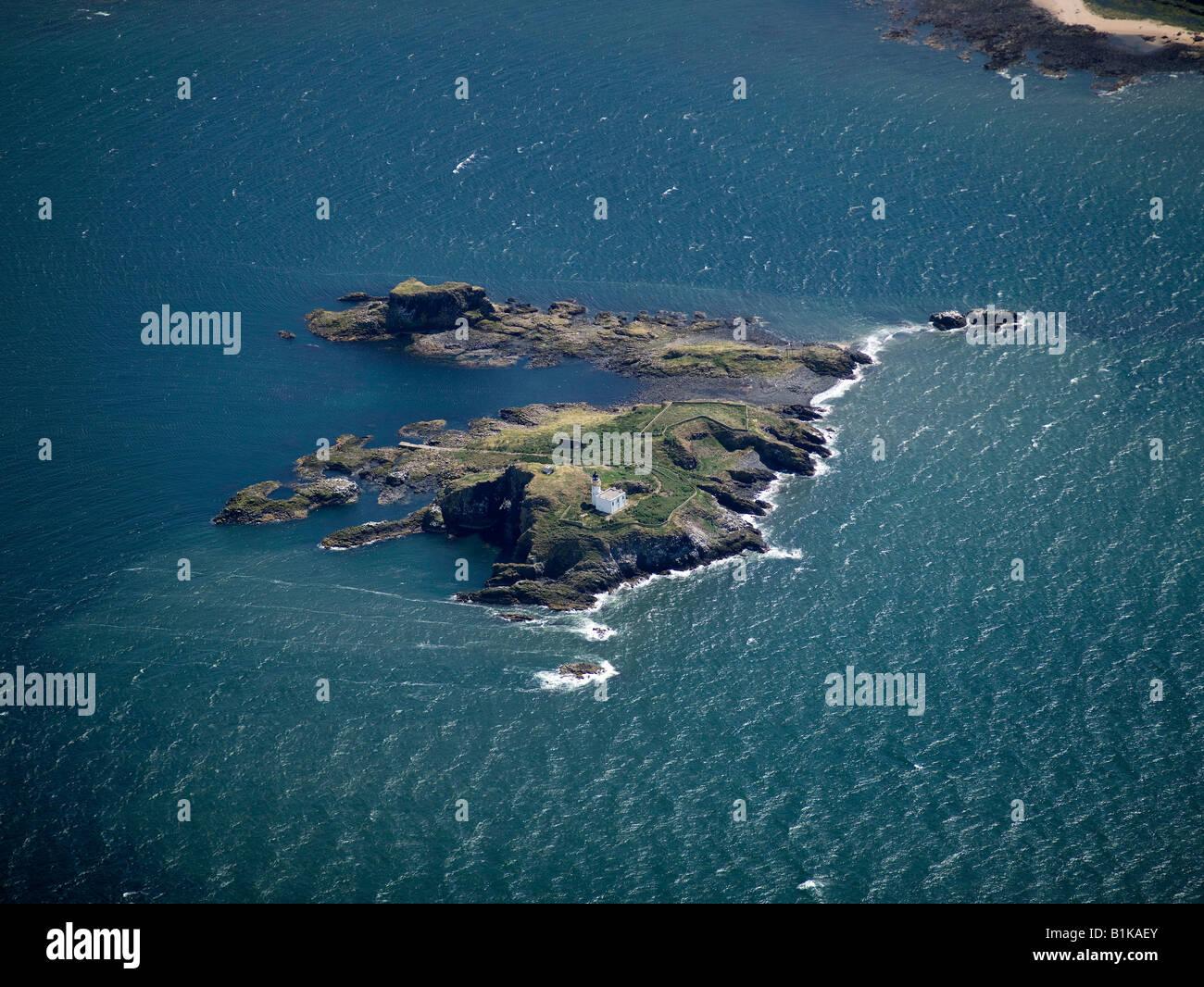 Insel der Fidra in den Firth of Forth, Lothian, Schottland Stockbild