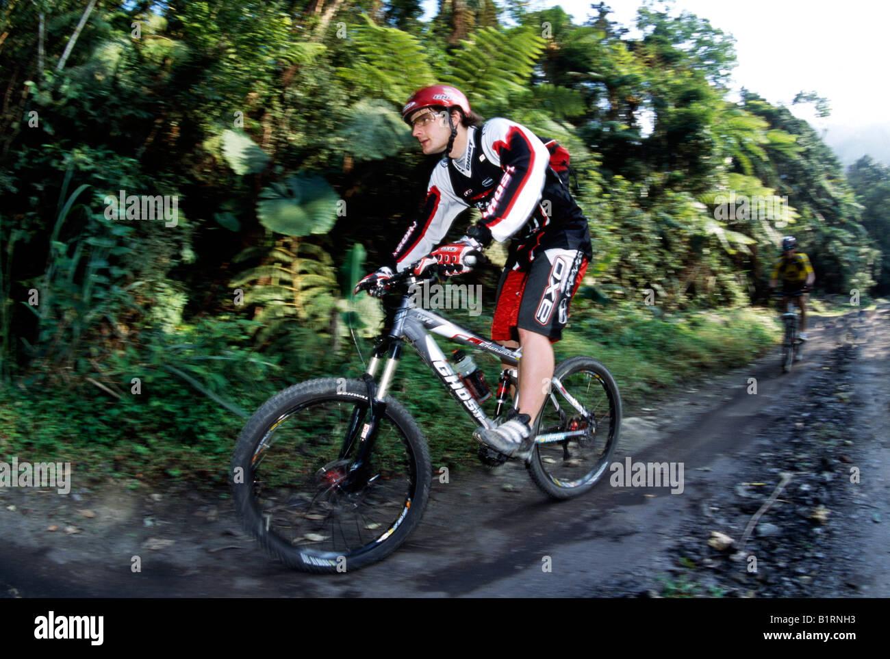 Mountain Biker, Triberg, Taichung, Taiwan Stockbild