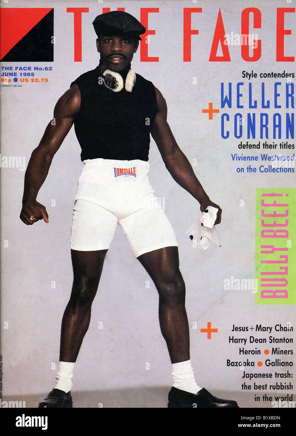 Die Face-Magazin (1980-2004) dieser Ausgabe Juni 1985 nur zu redaktionellen Zwecken Stockbild