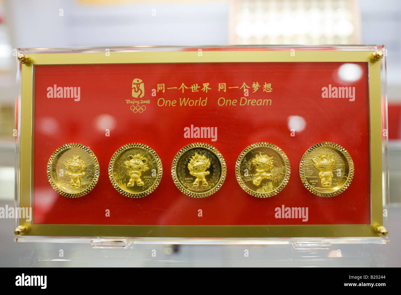 2008 Olympischen Spiele Fuwa Maskottchen Zeichen Medaillon Münzen Im
