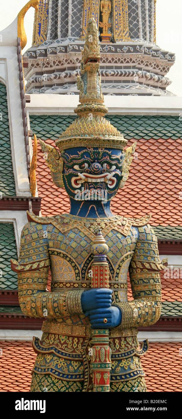 Dämon Yaksha-Statue in den königlichen Palast, Bangkok Stockbild
