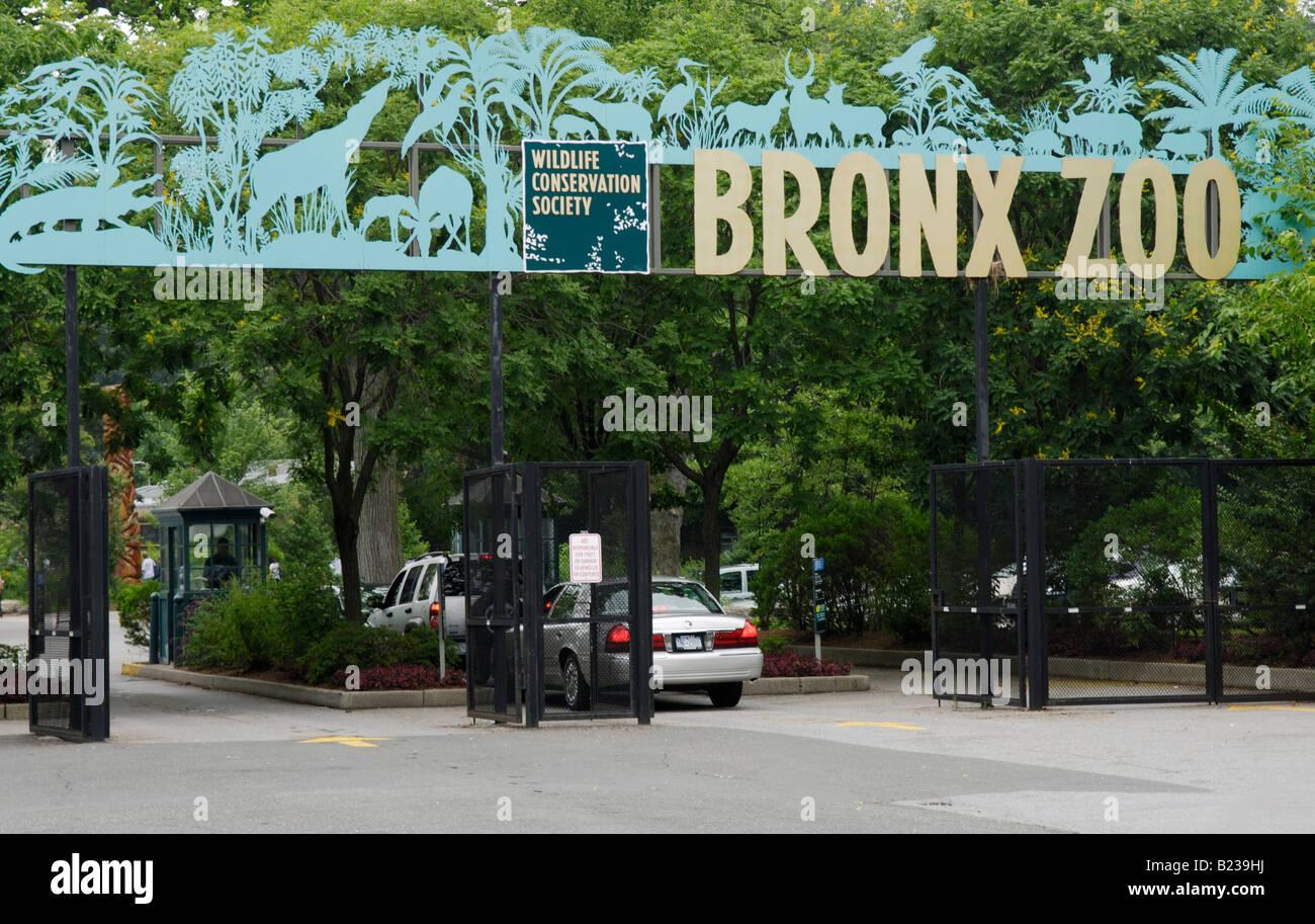 Eingang zum Bronx Zoo Stockbild