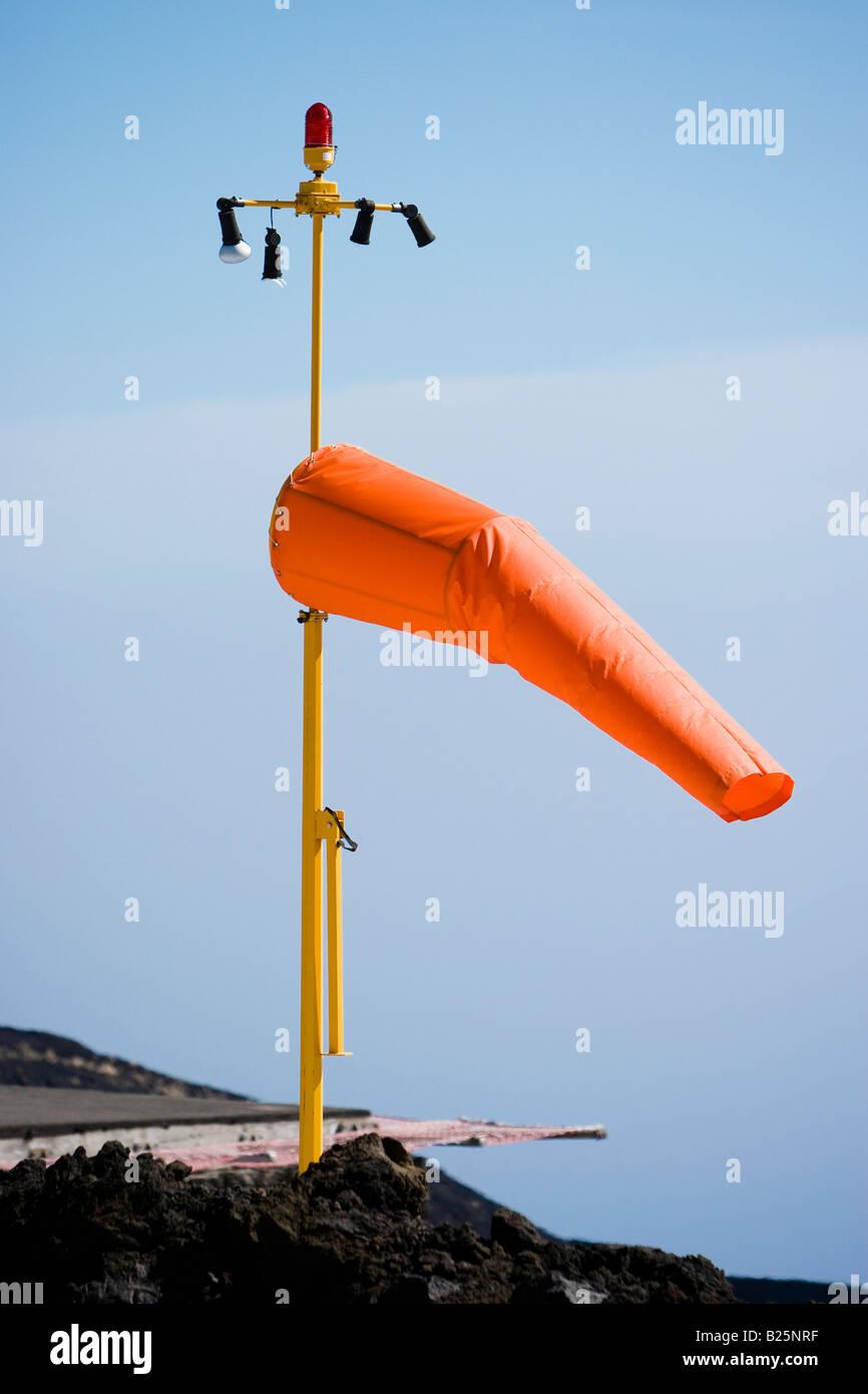 Roter Wind Kegel auf den Ätna, Sizilien, Italien Stockbild