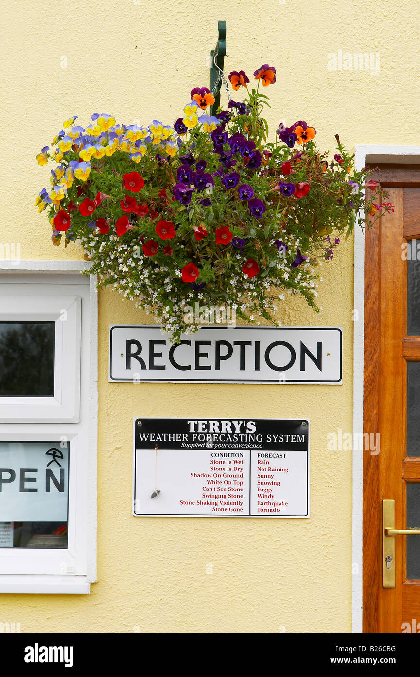 Outdoor-Foto, Wettervorhersage am Lough Arrow, County Sligo, Irland, Europa Stockbild