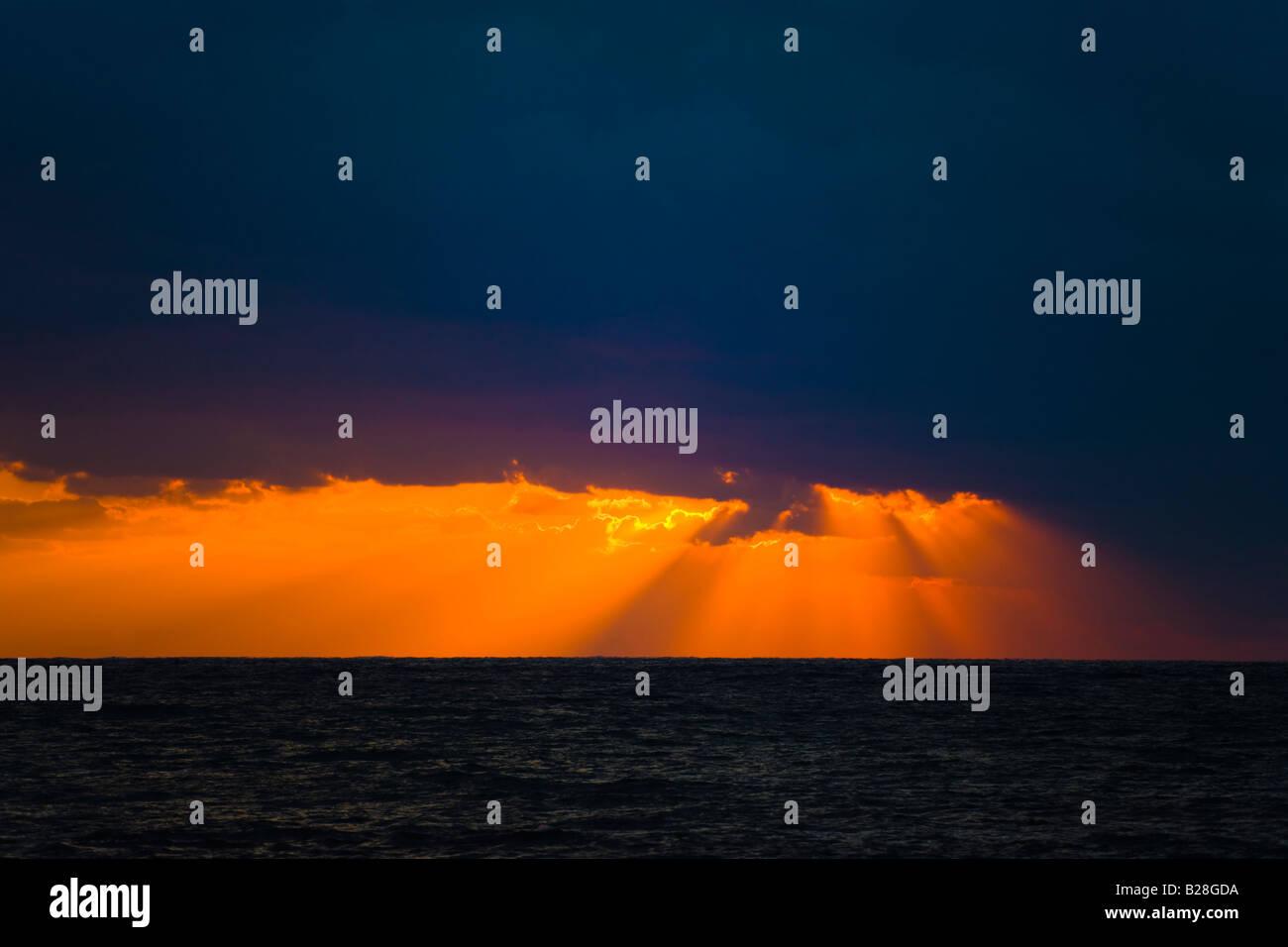 Sonnenuntergang in Kato Paphos, Zypern Stockbild