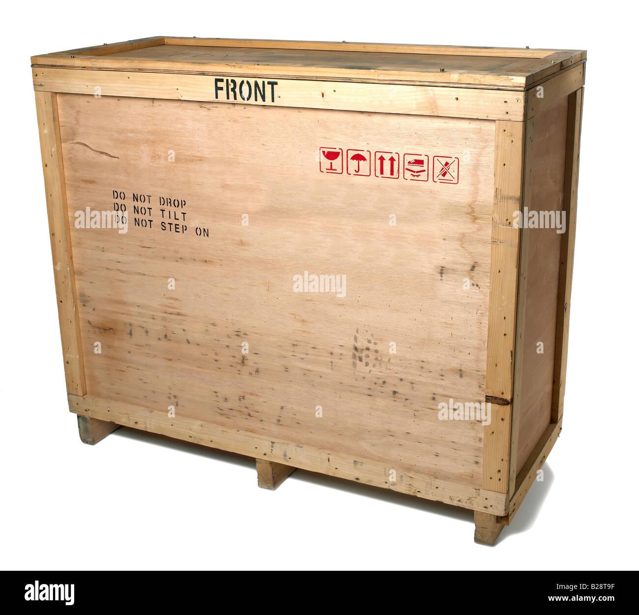 Holz-Versandbehälter Stockbild