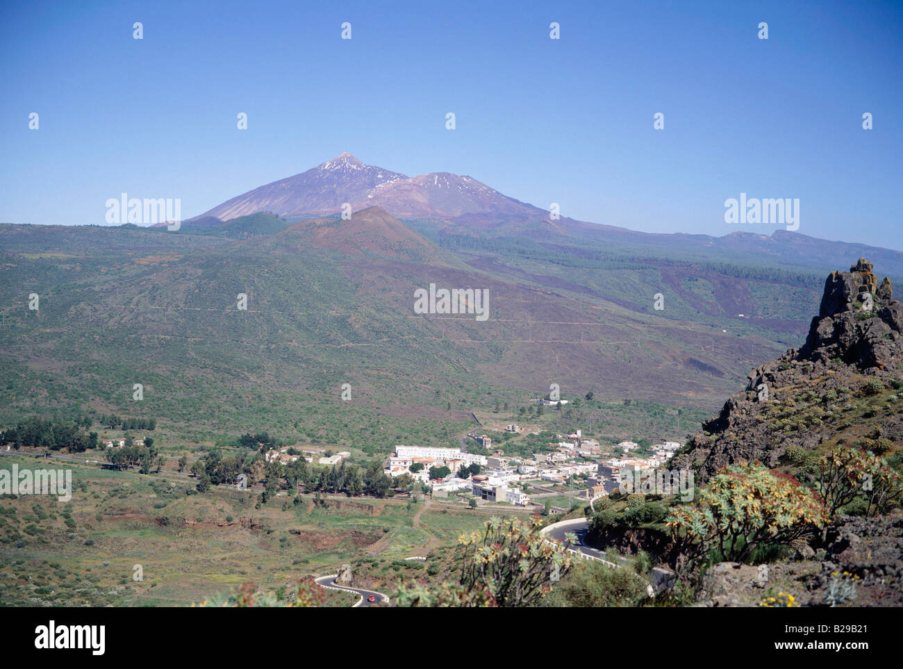 Teneriffa Santiago del Teide Mt Teide D Stockbild