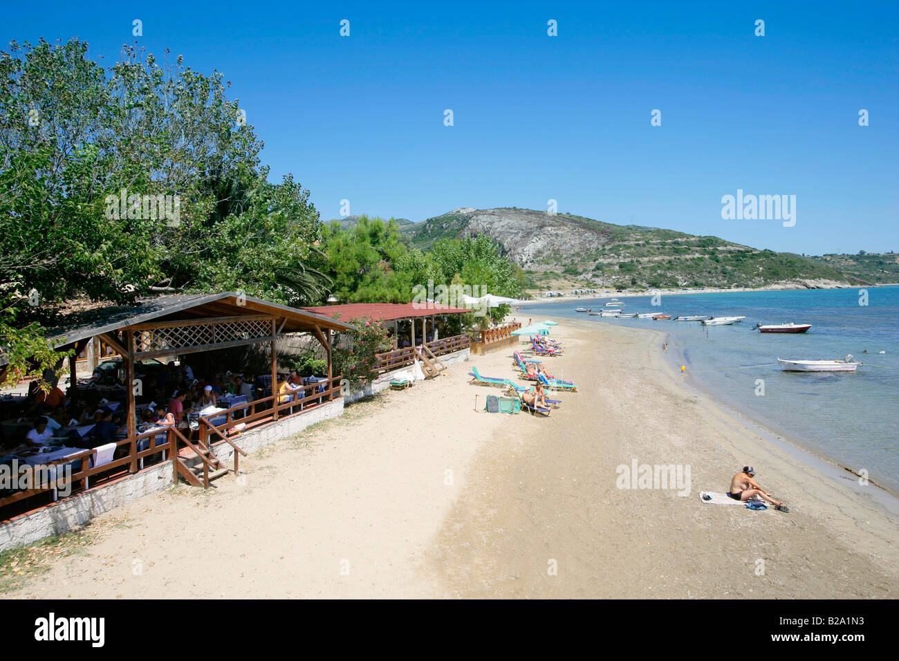 griechenland kefalonia strand von katelios s dk ste stockfoto bild 18660575 alamy. Black Bedroom Furniture Sets. Home Design Ideas