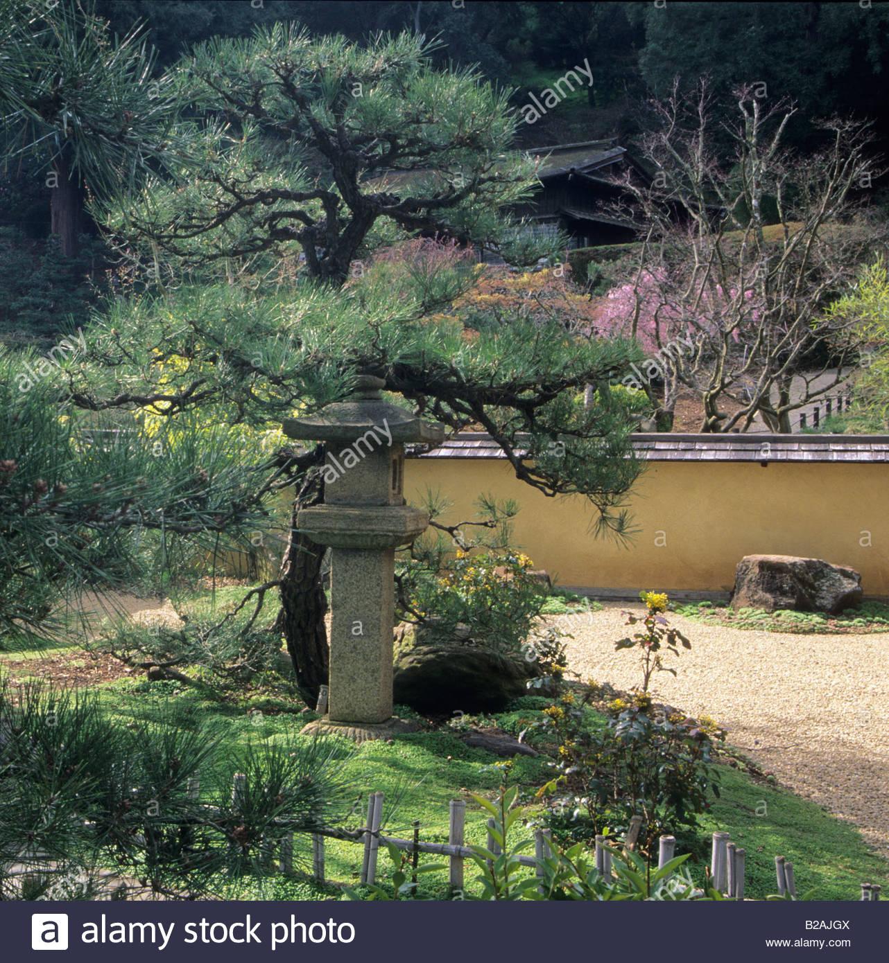 Hakone Saratoga California Japanischer Garten Der Zen Garten Mit