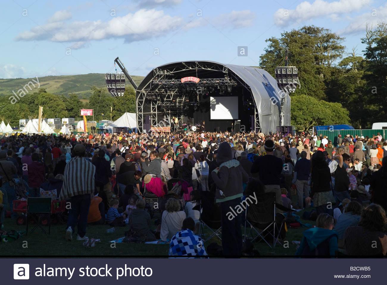 Musikfestival Bestival Camp Juli 2008 Lulworth Estate-Dorset-England Stockbild