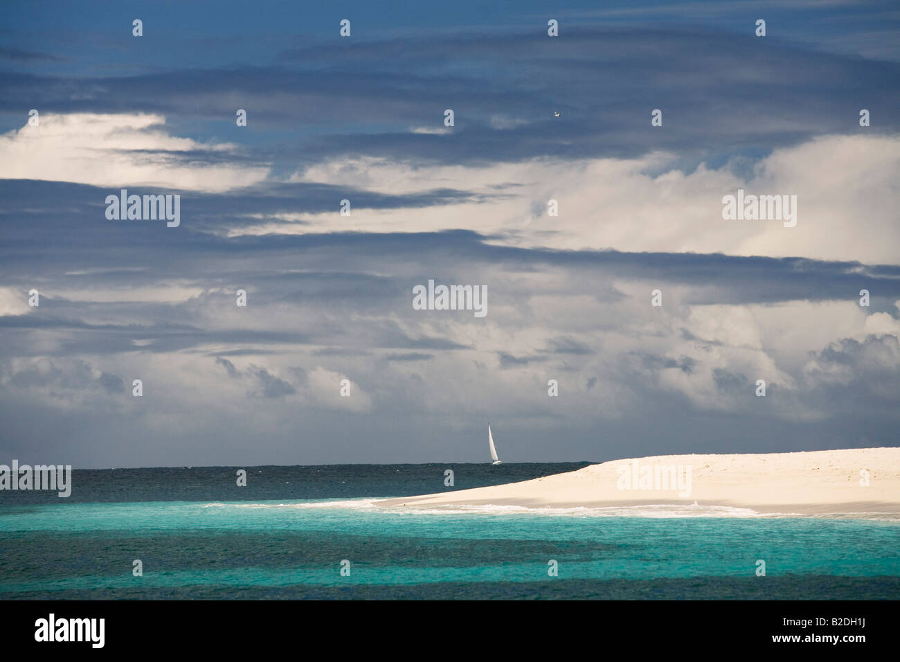 Palm Island Grenadines Stockbild