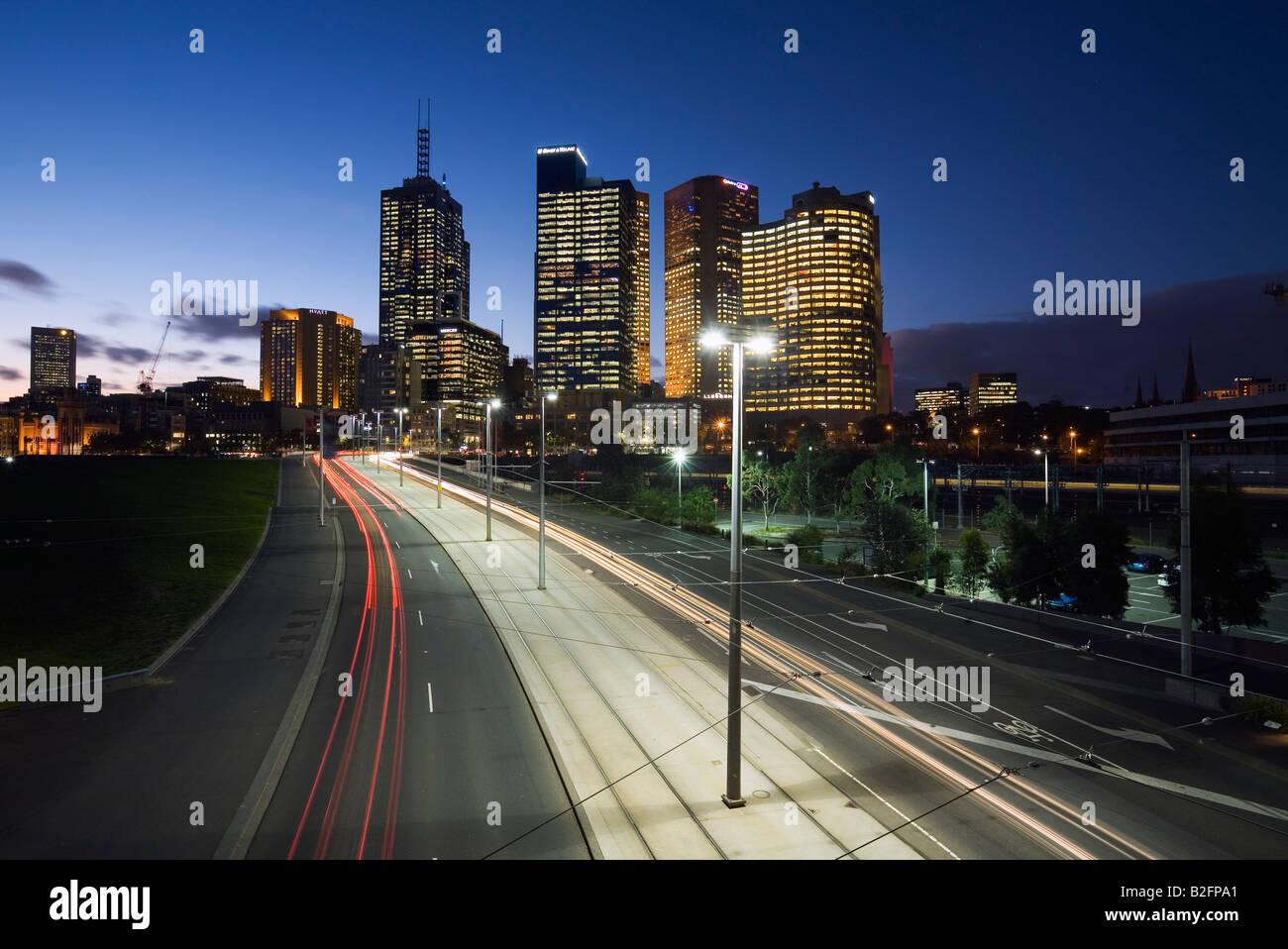 Verkehr-Routen - Melbourne, Victoria, AUSTRALIA Stockbild