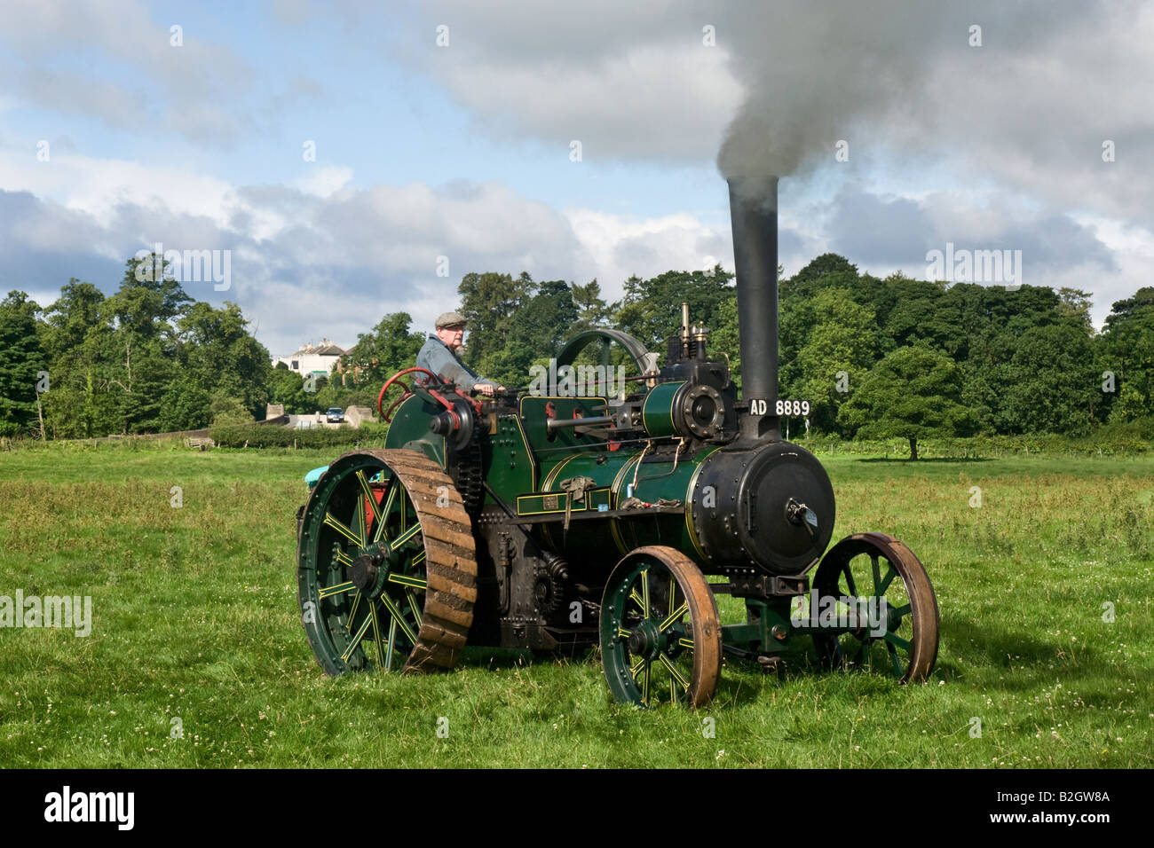 Robinson und Auden Zugmaschine am Masham Steam Rally 2008 fotografiert Stockbild