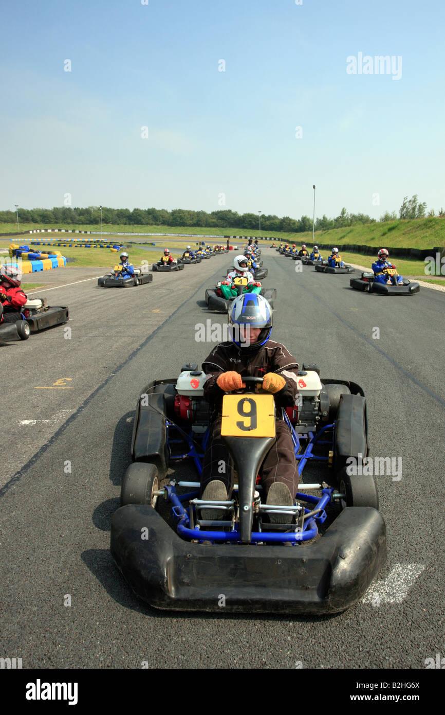 Kart in Middlesbrough South Bank Motorsports Park Stockbild