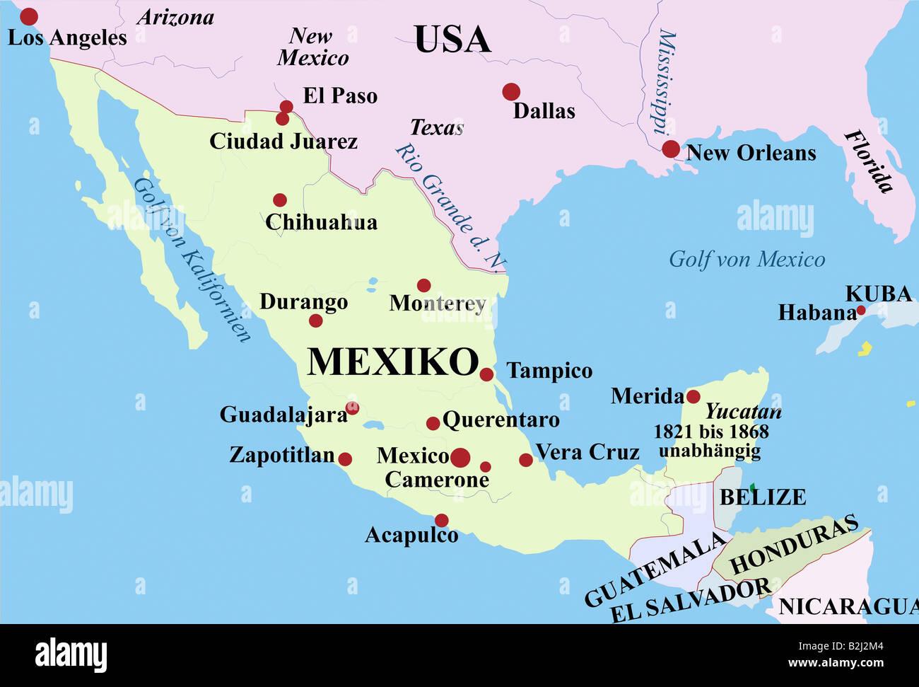 Yucatan Mexico Map Stockfotos & Yucatan Mexico Map Bilder - Alamy