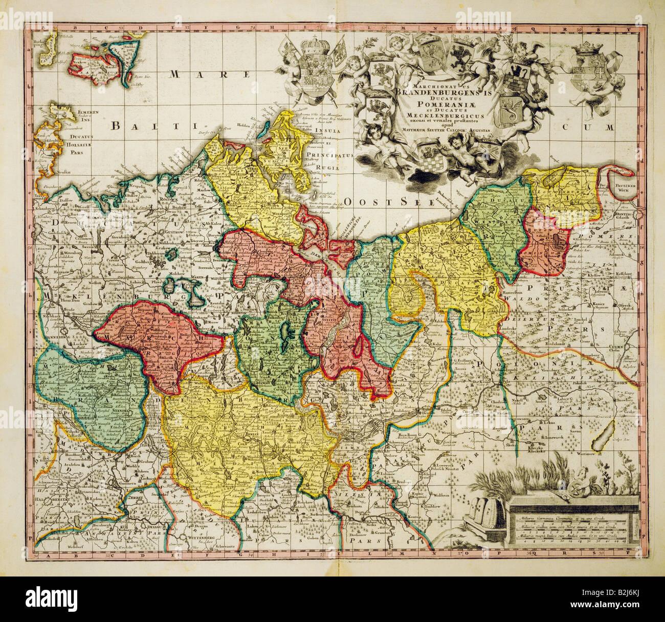 Karte Norddeutschland Ostsee.Map Of Brandenburg Stockfotos Map Of Brandenburg Bilder