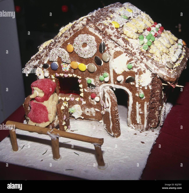 Weihnachten Geback Pfeffer Kuchen Haus Additional Rights