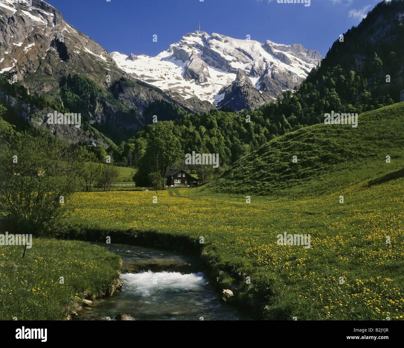 Geographie/Reisen, Schweiz, St. Gallen, Landschaften, Appenzeller Alpen, Säntis, Thur, Toggenburg, Additional Stockbild