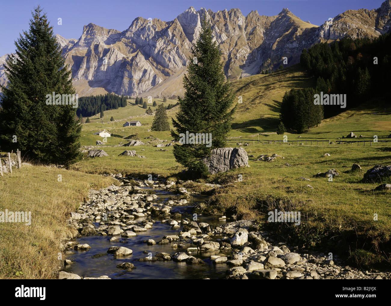 Geographie/Reisen, Schweiz, Appenzell Ausserrhoden, Landschaften, Schwägalp und Säntismassif, Additional Stockbild