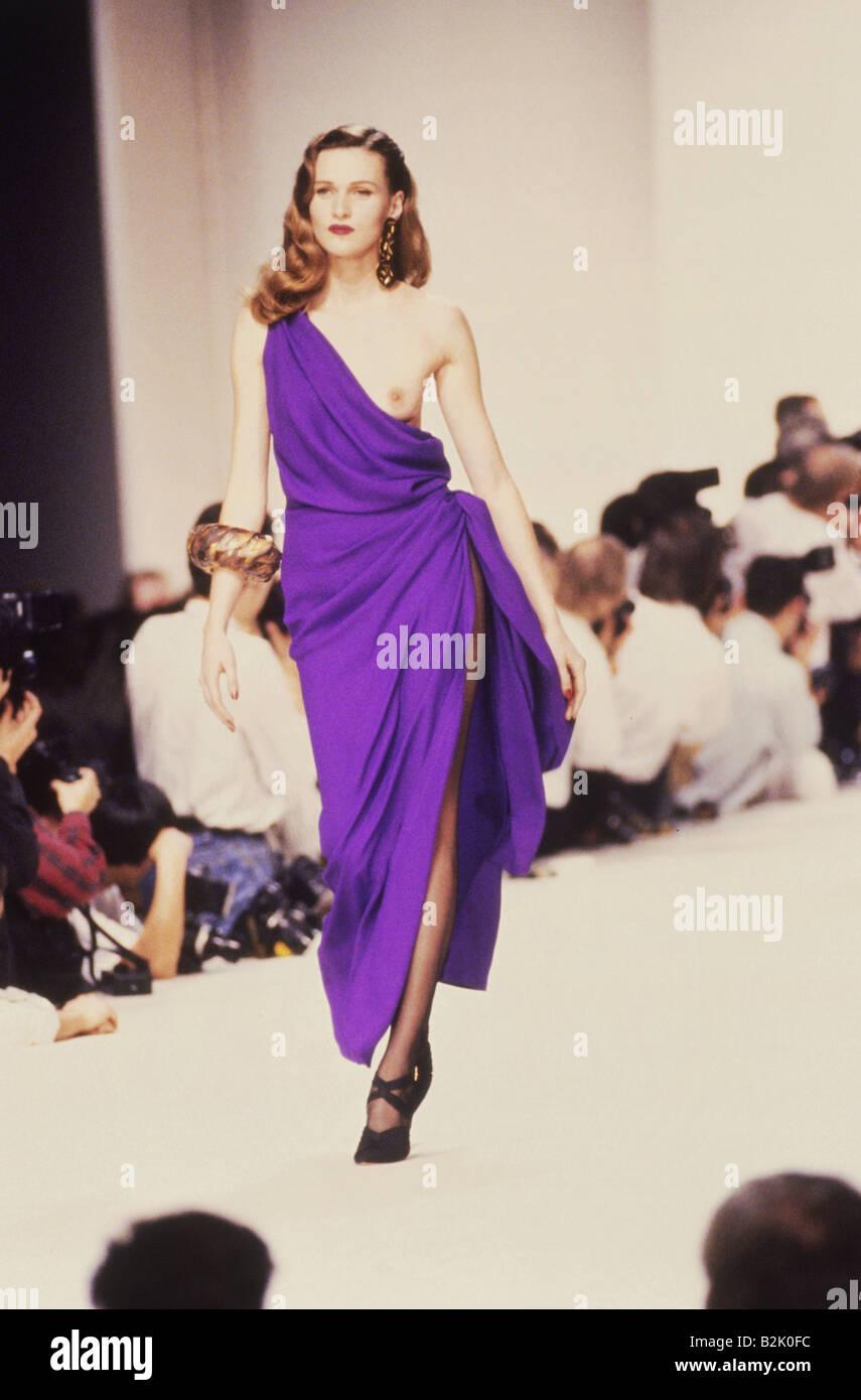 Mode, Modenschau, Pret-a-Porter, Paris, Yves Saint Laurent ...