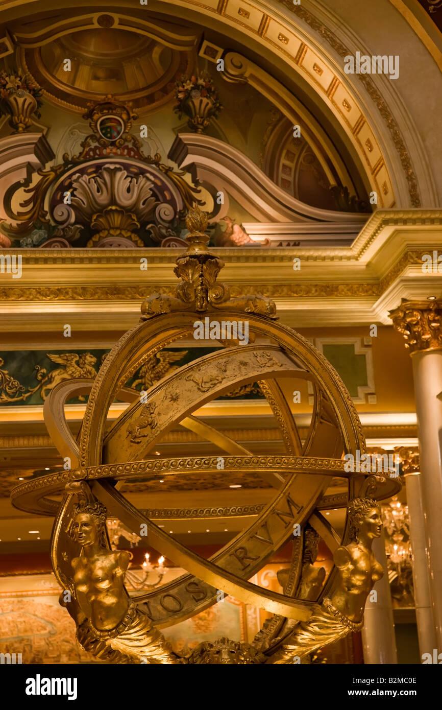 Renaissance Kompass, Venetian Hotel, Las Vegas Stockbild