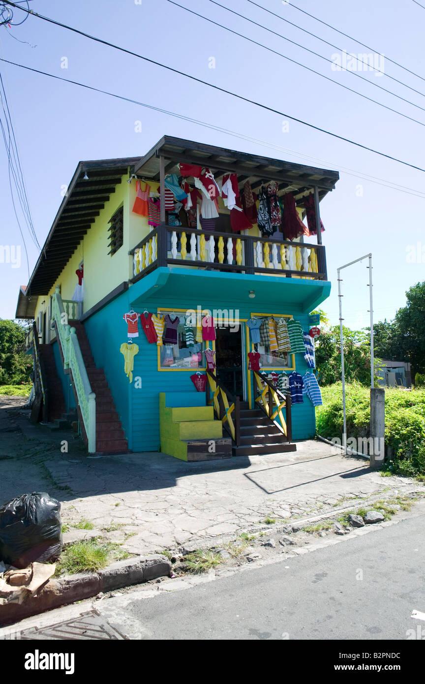 Modegeschäft in Charleston Nevis, Caribbean Stockbild
