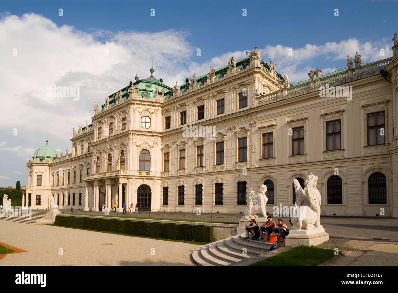 Schloss Belvedere, Wien, Österreich Stockfoto