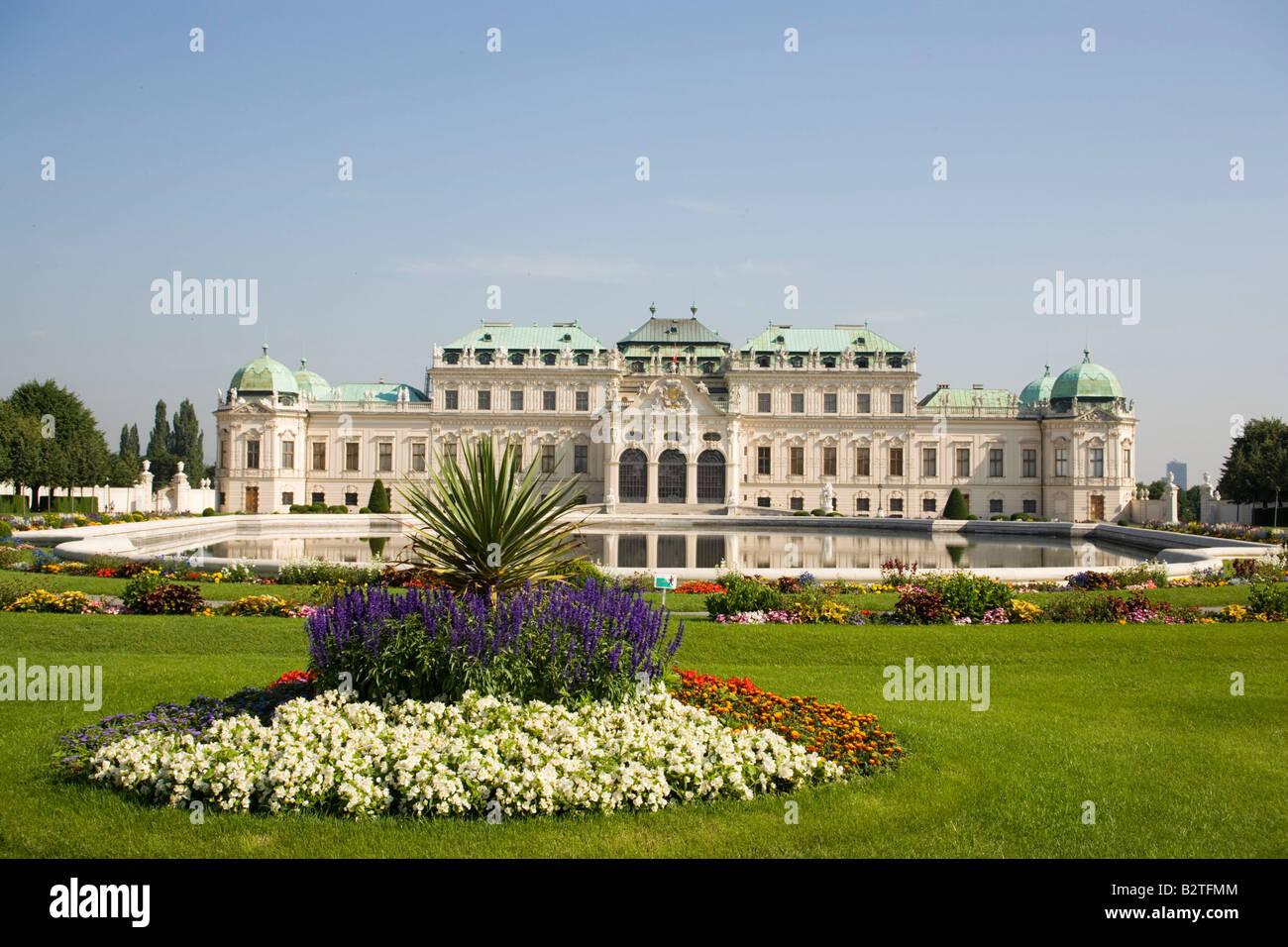 Schloss Belvedere, der Heimat von Prinz Eugene von Savoyen, Wien, Österreich Stockfoto