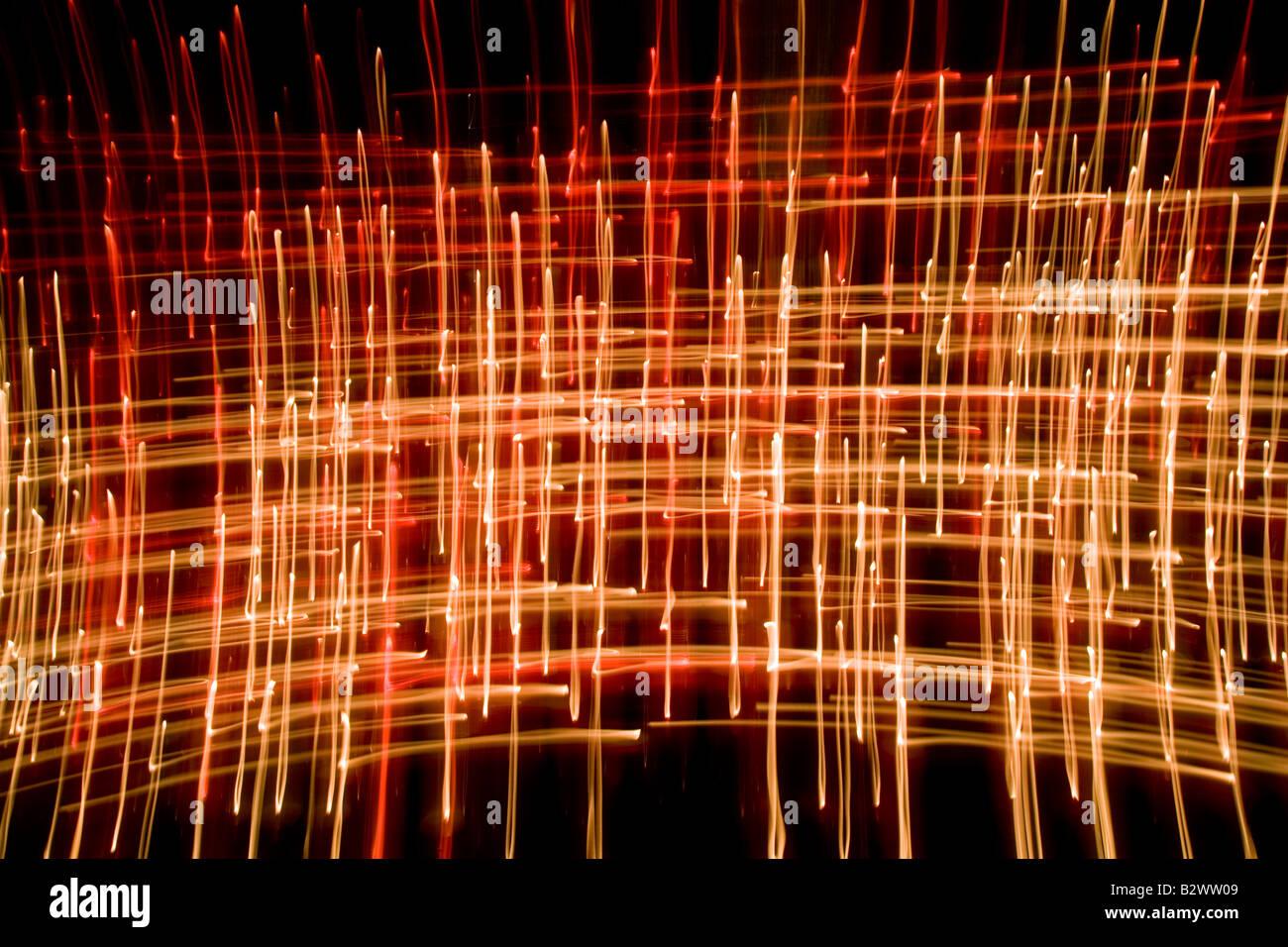 Kerze Flammen abstrakt genommen mit langsamen Verschlusszeit in einer Kathedrale Stockfoto