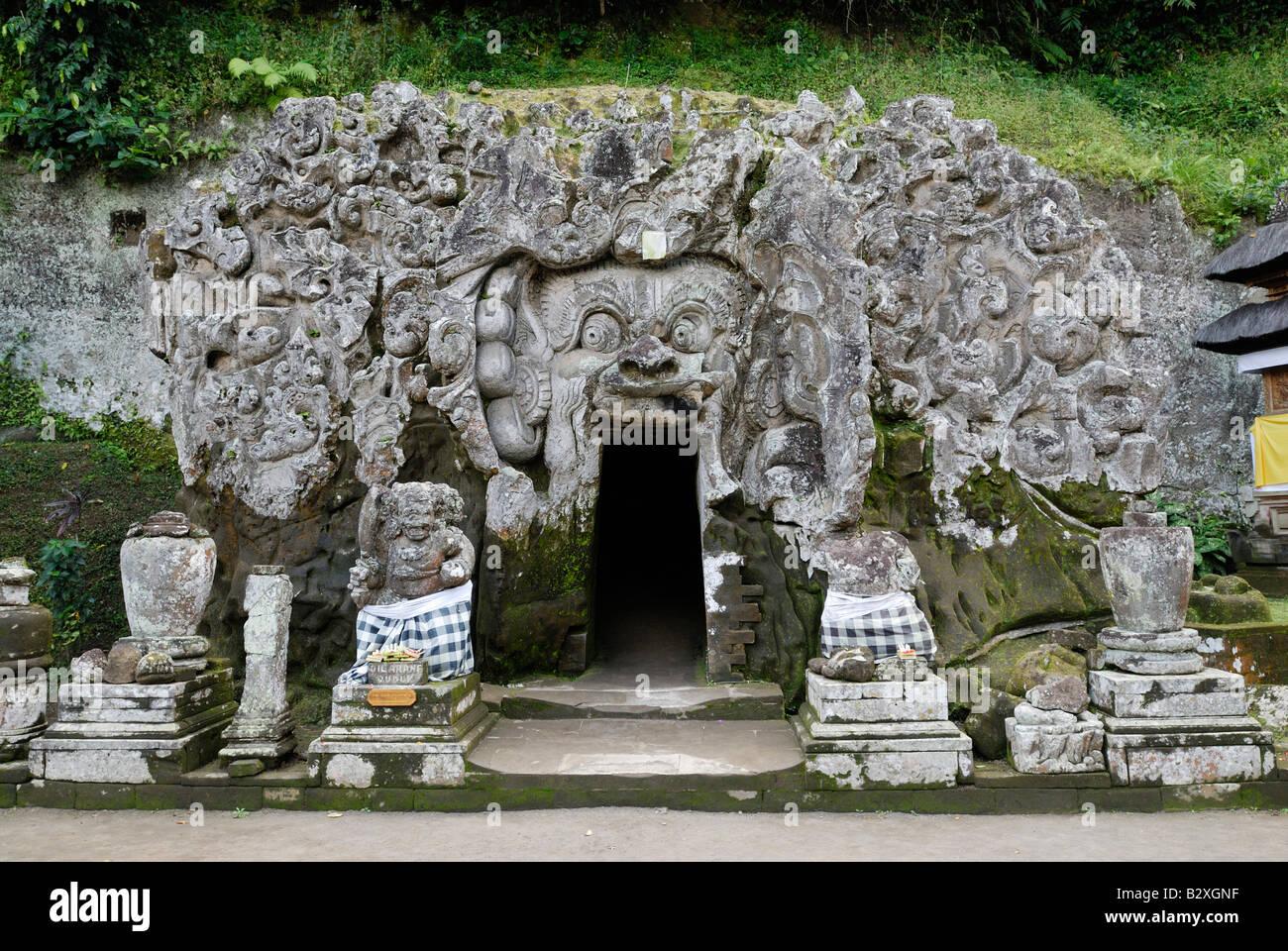 ELEFANTENHÖHLE Goa Gajah, Bali, Indonesien, Asien Stockbild