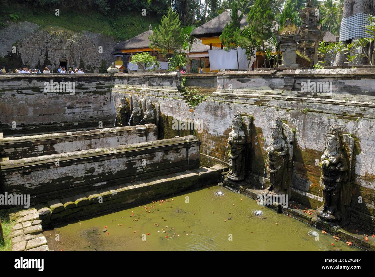 Badeplatz der Nymphen, ELEFANTENHÖHLE Goa Gajah, Bali, Indonesien, Asien Stockbild