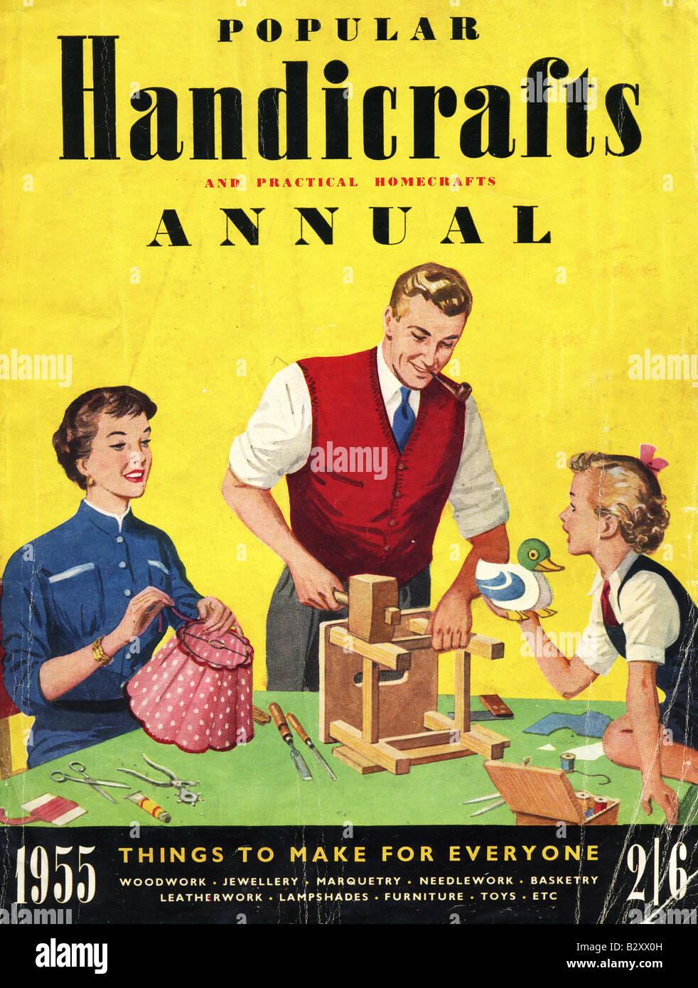 1950er Jahren beliebten Kunsthandwerk jährliche 1955 für redaktionelle Verwendung nur Stockbild