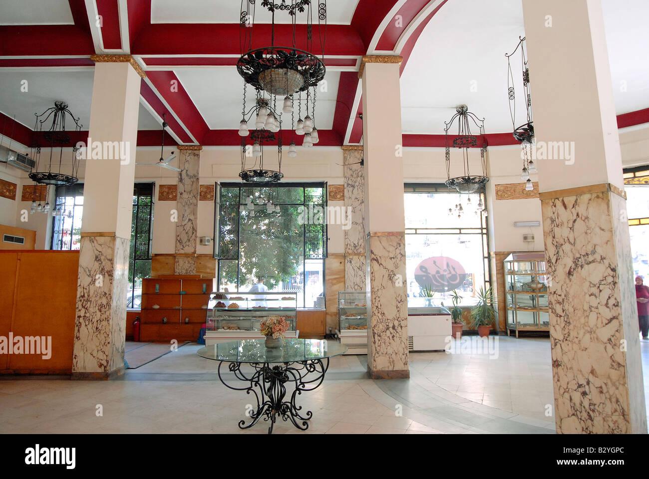 Typischen art deco interieur design bildet in der innenstadt