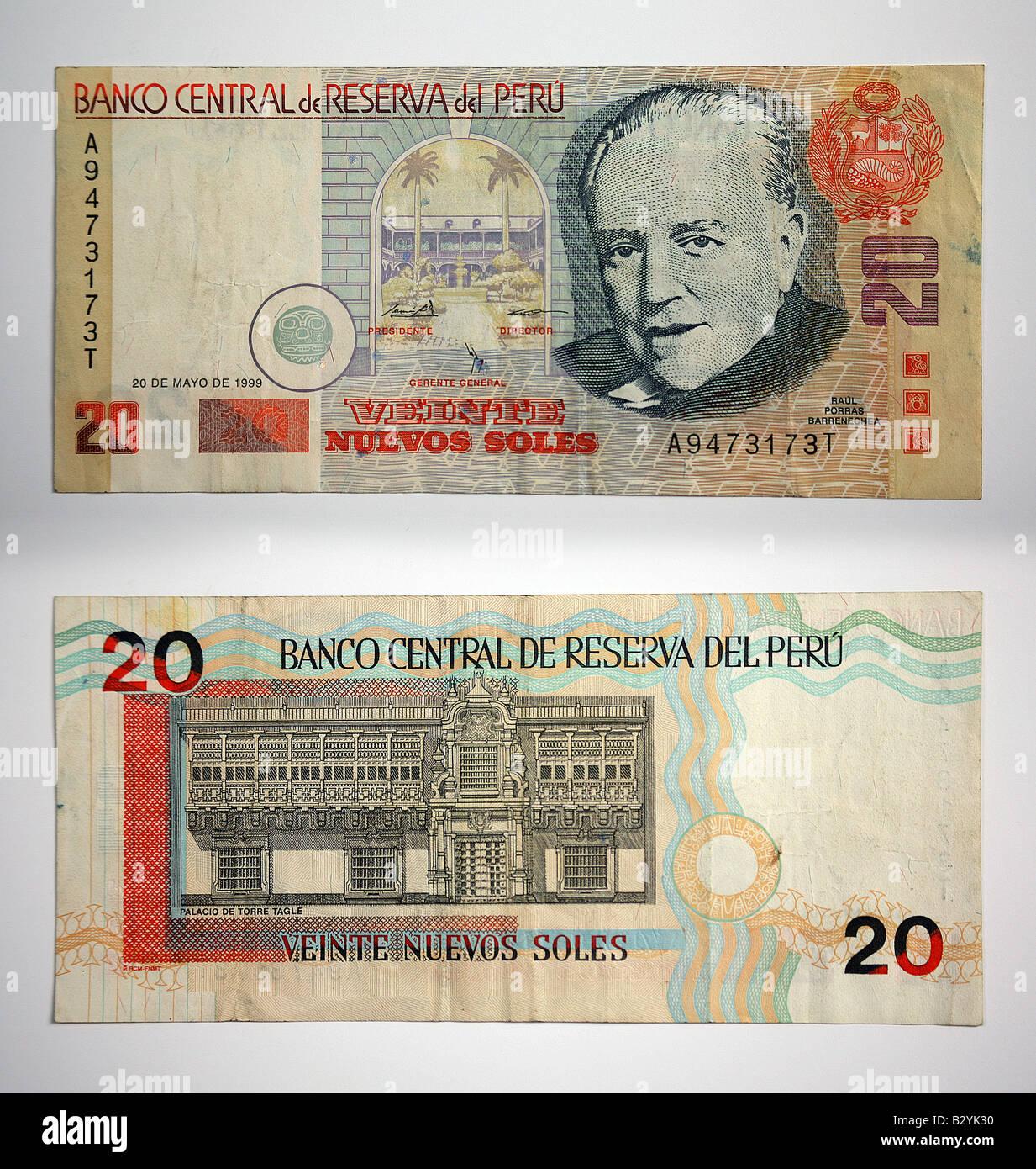 Peru geld viente nuevos soles stockfoto bild 19047364 alamy peru geld viente nuevos soles thecheapjerseys Images