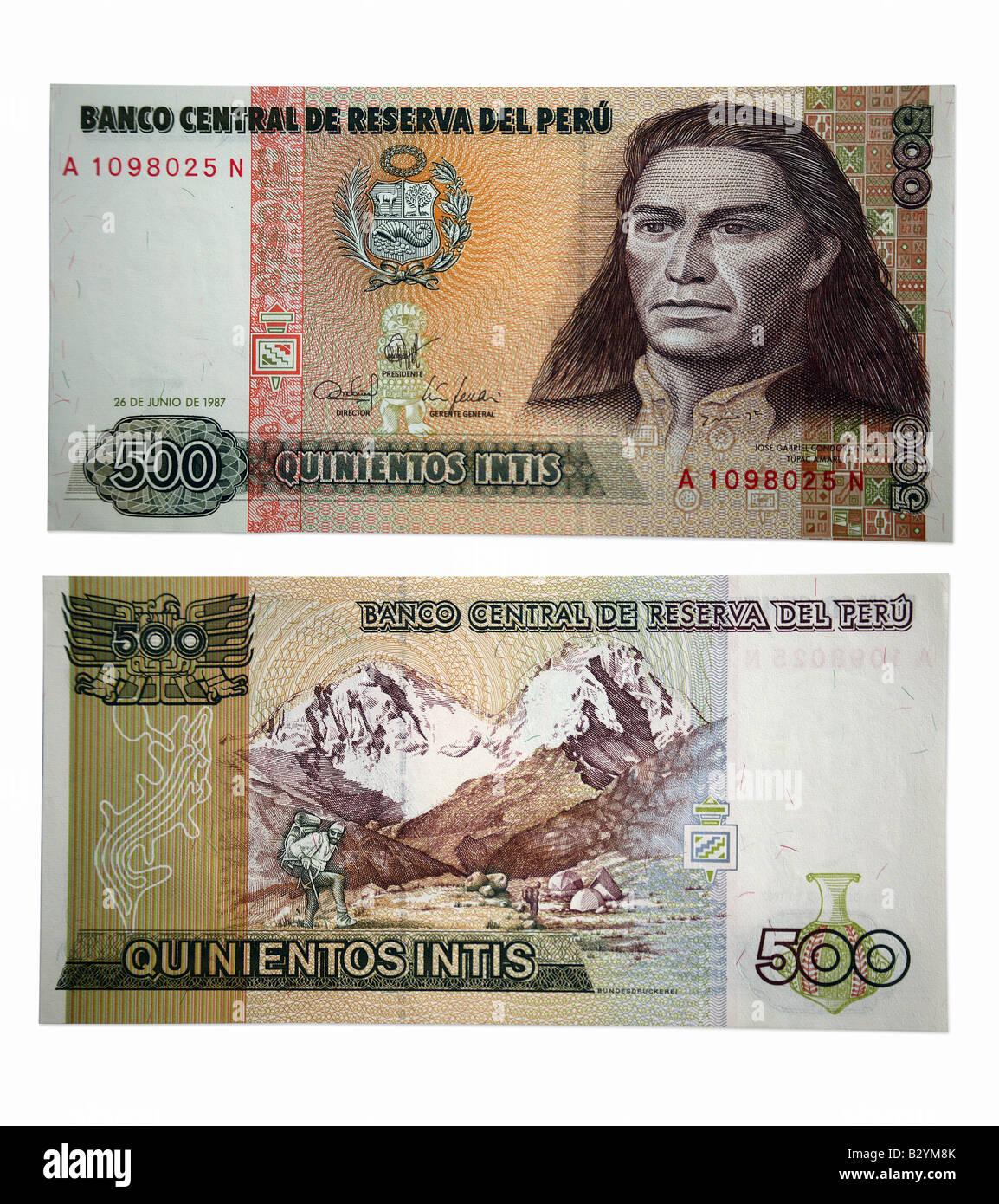 Quinientos intis 500 peru geld aus peru stockfoto bild 19048307 quinientos intis 500 peru geld aus peru thecheapjerseys Images