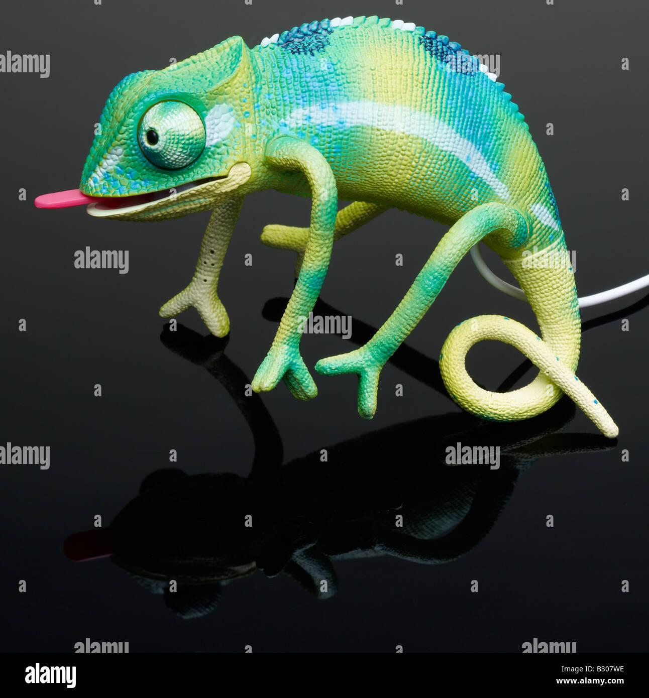 Chameleon Spielzeug Stockbild