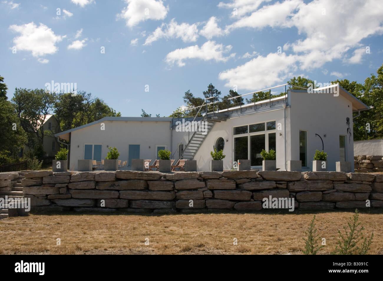 zeitgenössischer schwedische Architektur Haus moderne stilvolle ...