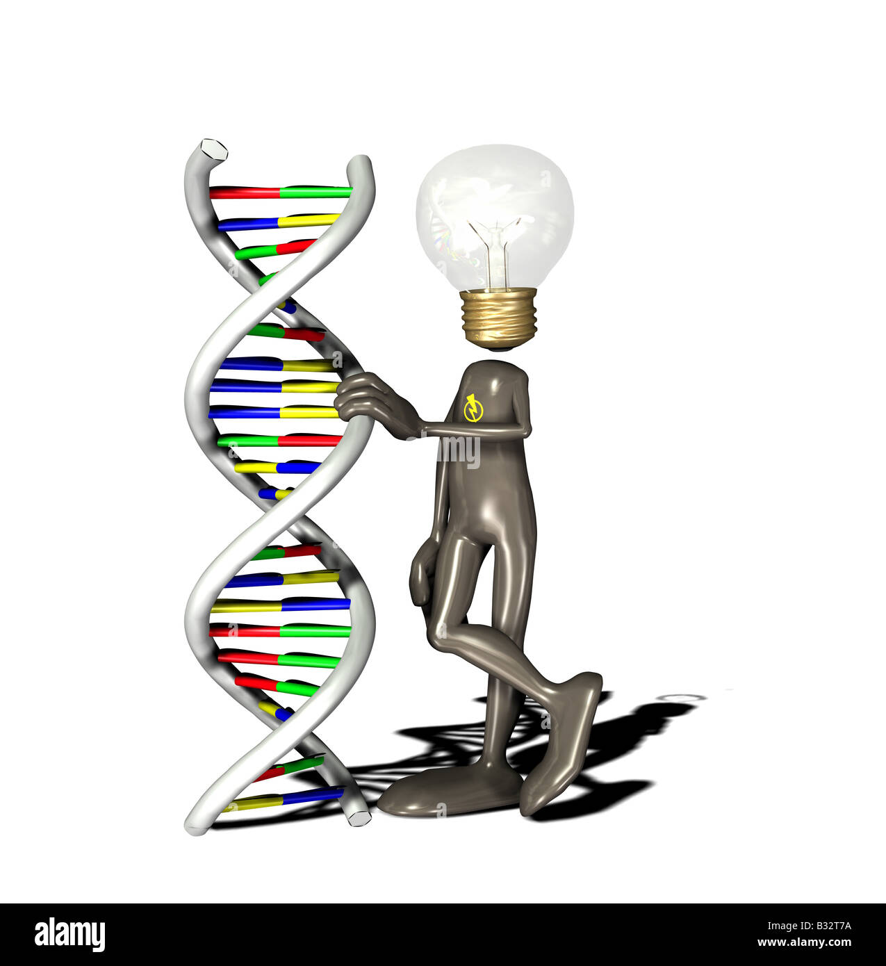 Birne-Mann-DNA Stockbild