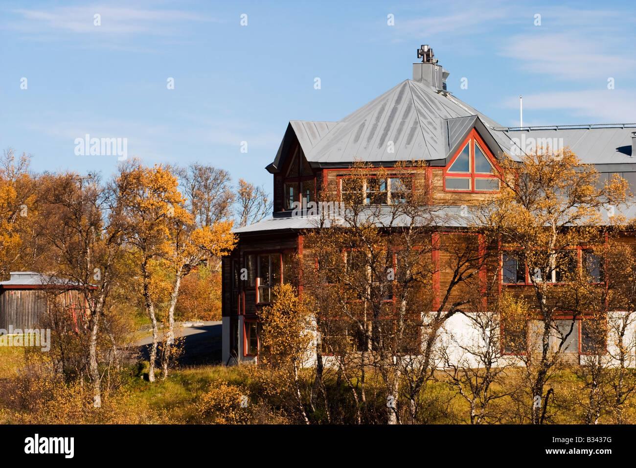 Storulvån Berghütte in Schweden Stockbild