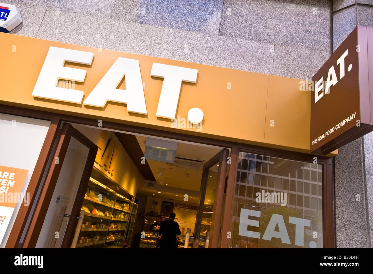 Essen Sie Restaurant London Vereinigtes Königreich Stockbild
