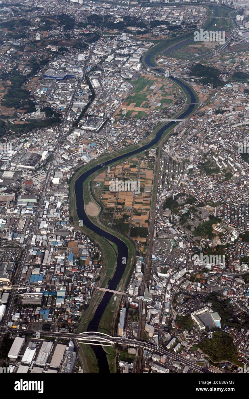 Luftaufnahme des Wohn-Tokio Stockfoto