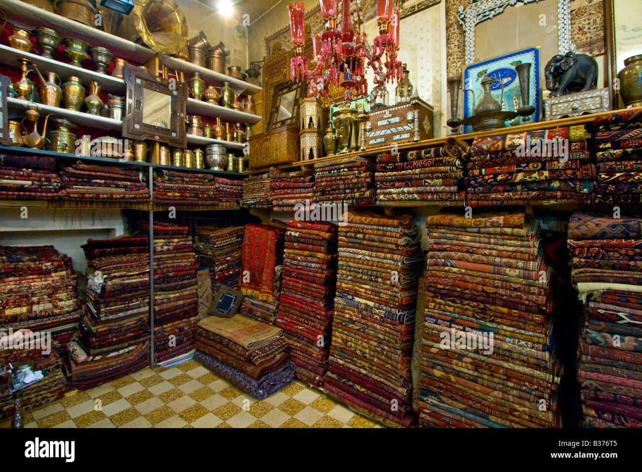 In George Daboub Antik Laden In Der Altstadt Von Damascas Syrien