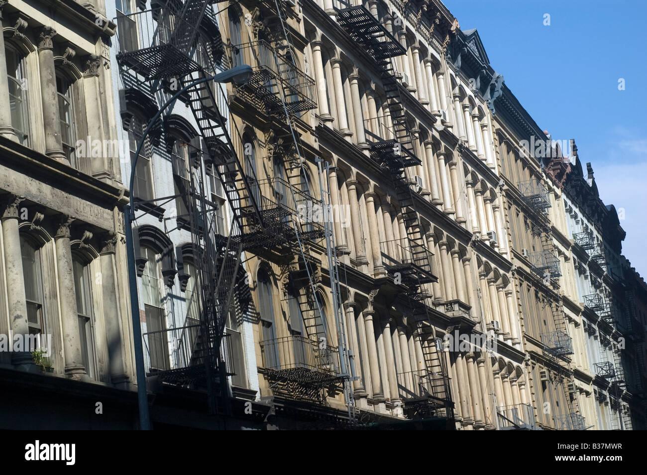 Gusseisen-Gebäude in Tribeca Stockbild