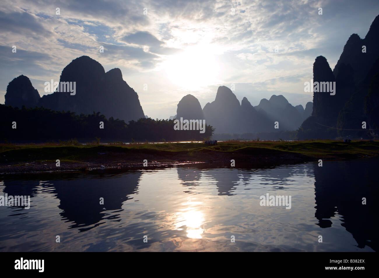 XING Ping Ortsteil Guilin China Stockbild